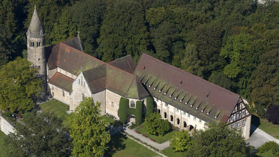 Image: Aerial view of Lorch Monastery