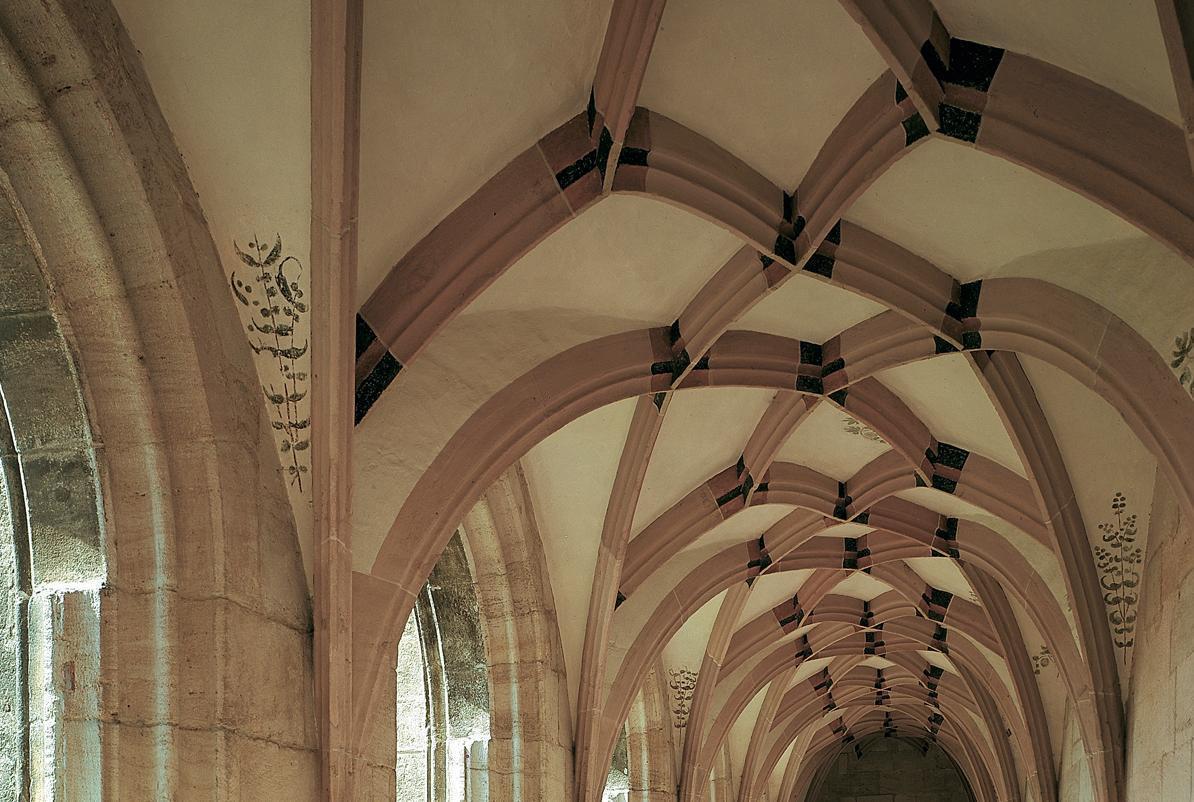 Net vault of the cloister, Lorch Monastery. Image: Landesmedienzentrum Baden-Württemberg, Dieter Geissler