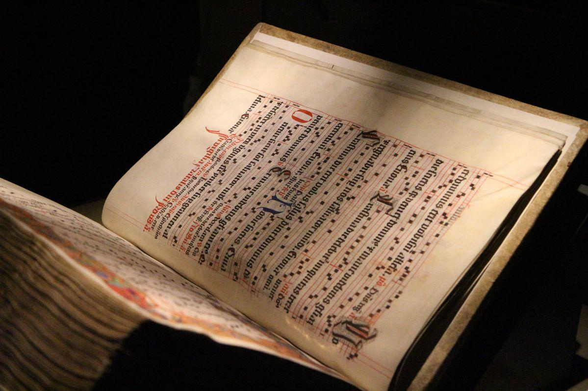 One of the choir books of Lorch Monastery, early 16th century. Image: Staatliche Schlösser und Gärten Baden-Württemberg, Ulrich Rund