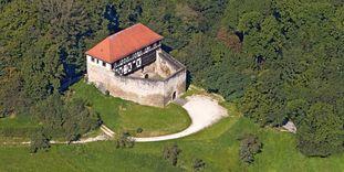 Château-fort de Wäscherschloss, Vue aérienne