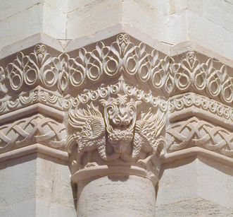 Capital with dragon, detail of Lorch Monastery church. Image: Ulrich Rund