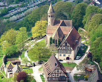 Exterior view of Lorch Monastery. Image: Staatliche Schlösser und Gärten Baden-Württemberg, Achim Mende
