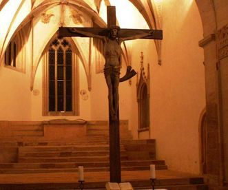 Close-up of the crucifix in Lorch Monastery church. Image: The town of Lorch