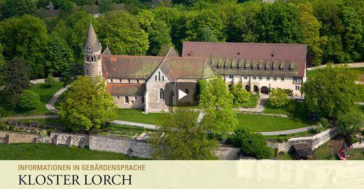 """Startbildschirm des Filmes """"Kloster Lorch: Informationen in Gebärdensprache"""""""