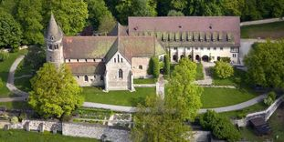 Luftaufnahme von Kloster Lorch