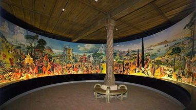View of the mural of the House of Staufen in the Lorch Monastery chapter house. Image: Lorch Monastery Tourist Office
