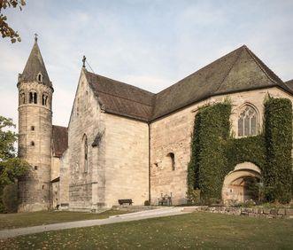 Kloster Lorch, Außenansicht, Stifter Herzog Friedrich von Schwaben und Agnes von Waiblingen