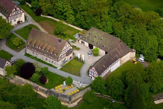 Lorch monastery, aerial view looking toward the estate