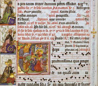 Seitenausschnitt aus den Chorbüchern