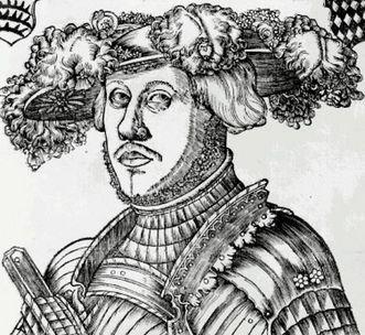 Duke Ulrich von Württemberg, woodcut by Brosamer, circa 1530. Image: Landesmedienzentrum Baden-Württemberg, Robert Bothner