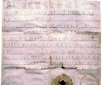 Charter of Lorch Monastery from 1102. Image: Benedictine monastery of St. Paul in the Lavant valley