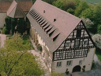 Aerial view of the abbot's house at Lorch Monastery. Image: Ulrich Rund