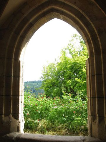 Lorch monastery, view through the archway