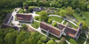 Aerial view of Lorch Monastery