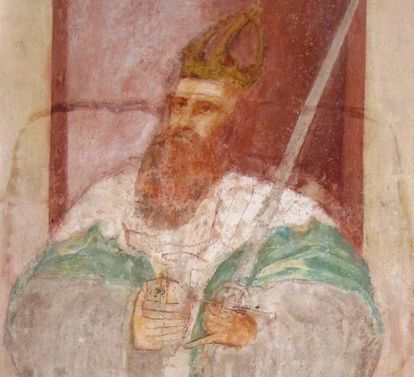 Image: Emperor Friedrich Barbarossa, mural in the Lorch Monastery church