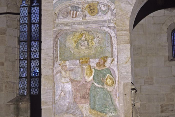 Detail of a mural of the House of Staufen in the Lorch Monastery church