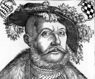 Image: Duke Ulrich von Württemberg, circa 1540, woodcut by Hans Brosamer